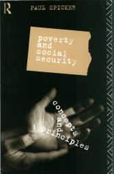 Cover of Poverty and social security, 1993