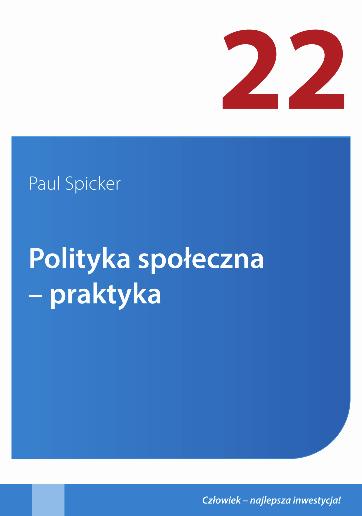 Cover of Polityka spoleczna - praktyka, 2014