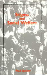 Cover of Stigma and social welfare, 1984
