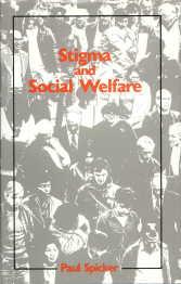 Cover of Stigma and social welfare, 1984